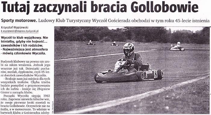 Tutaj zaczynali bracia Gollobowie – Express Bydgoski