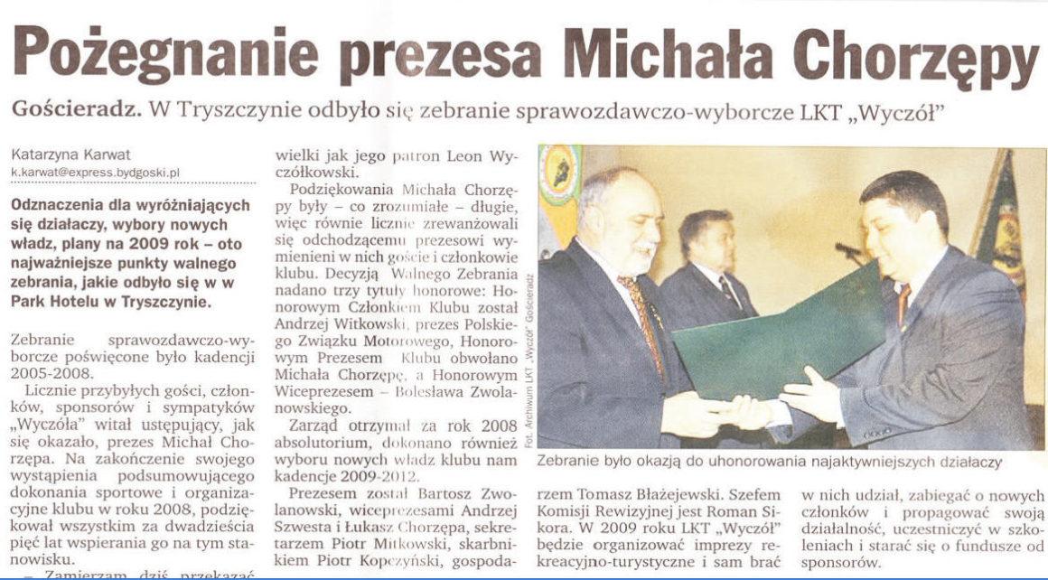 Pożegnanie Prezesa Michała Chorzępy Express Bydgoski