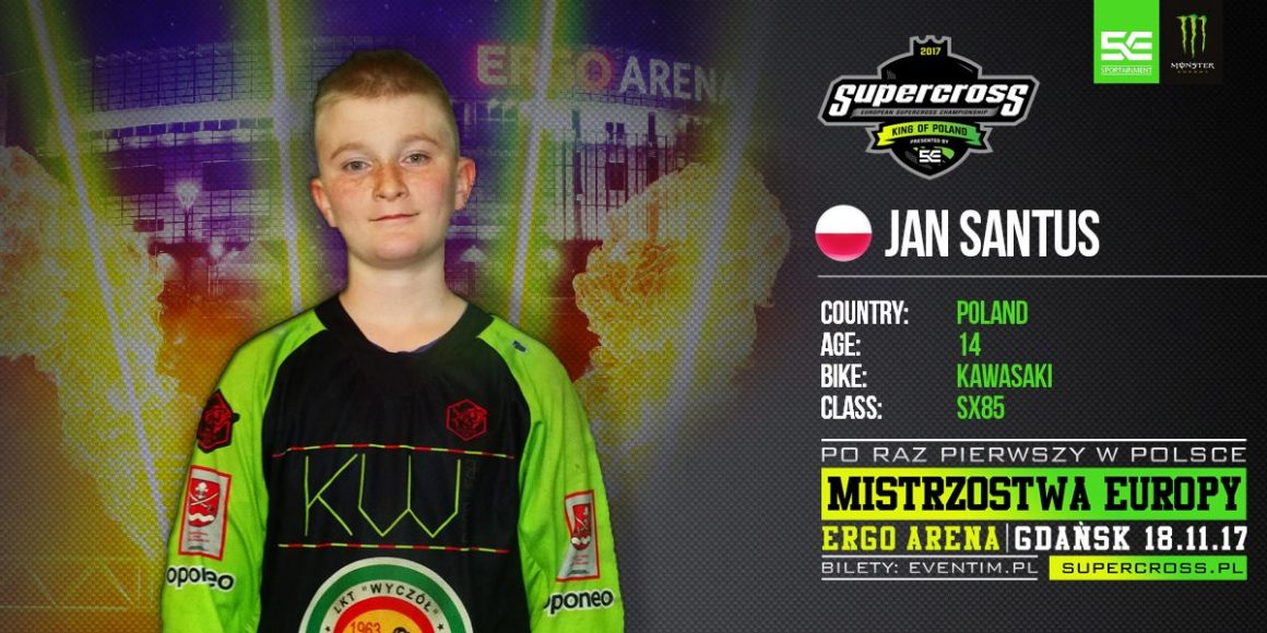 Jan Santus wystąpi w Mistrzostwach Europy w Supercrossie